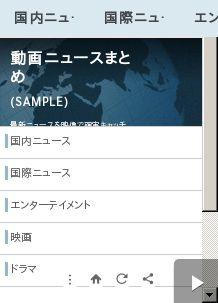動画ニュース(SAMPLE)